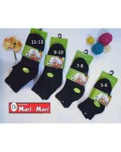 Black socks 3s short length