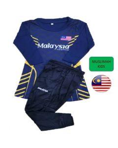 T-Shirt Set Muslimah Budak Perempuan Size 24/34 ( 5 to 12 yrs )